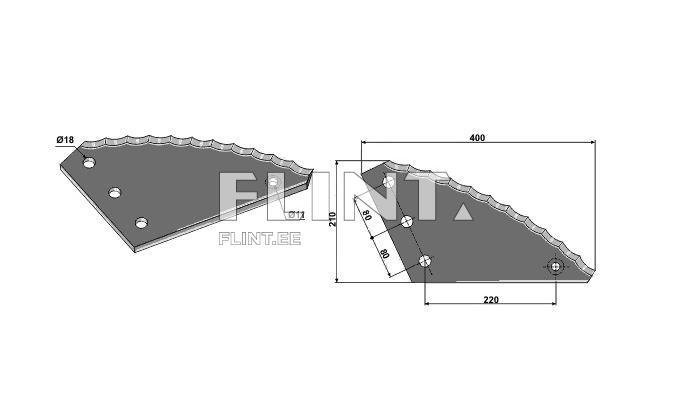 Feed mixer knife L=400 (Strautmann 60903500