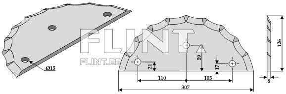 Feed mixer knive (Sgariboldi CL 04 016) @ Flint kaubandus